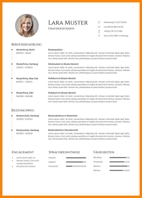 Lebenslauf Englisch Muster by 11 Curriculum Vitae Englisch Muster Usfpanhellenic