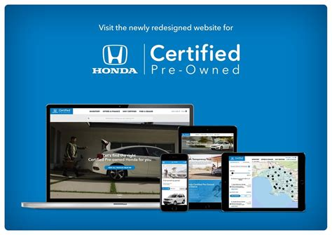 Honda Debuts New Website For Certified Preowned Vehicles