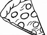 Pizza Coloring Pepperoni Pages Wecoloringpage sketch template