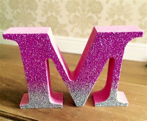 hand decorated freestanding wooden letter  wooden letters decorated freestanding wooden