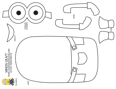minion template minion coloring pages free large images