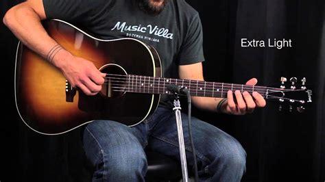 the ultimate acoustic string comparison light vs