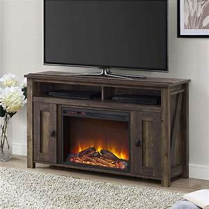 Inch tv stand in medium brown wood with watt