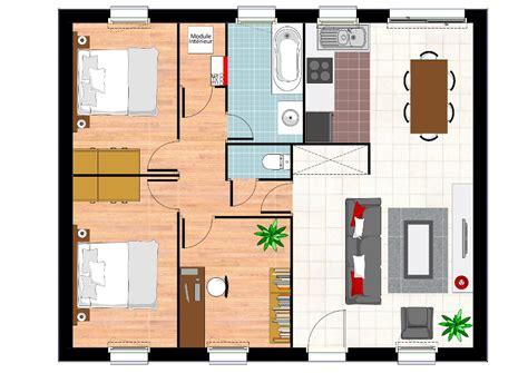 plan maison plain pied 2 chambres garage construction maison neuve ambre lamotte maisons