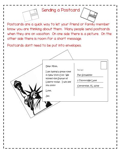 letter writing unit  primary grades