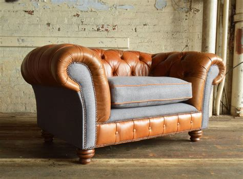 naunton leather chesterfield snuggle chair abode sofas