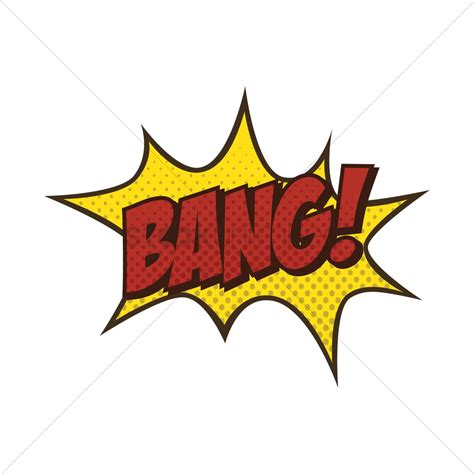 Bang Text With Comic Effect Vector Image