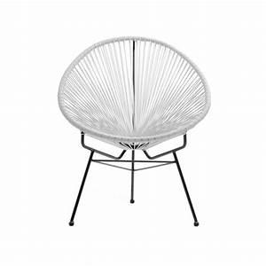 Fauteuil Jardin Design : fauteuil de jardin scoubidoo design blanc ~ Preciouscoupons.com Idées de Décoration