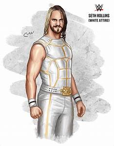 WWE Seth Rollins (White Attire) by baguettepang on DeviantArt