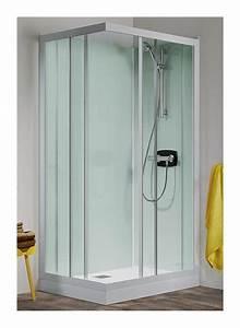 cabine de douche kineprime glass coulissante 100 x 80cm With porte de douche coulissante avec meuble salle de bain lt aqua