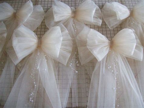 tulle pew bow over 20 colors tulle church pew decor
