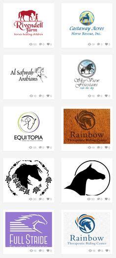 custom horse logos images custom logos horse