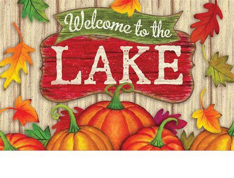 Welcome To The Lake Doormat by Indoor Outdoor Lake Welcome Insert Doormat 18x30