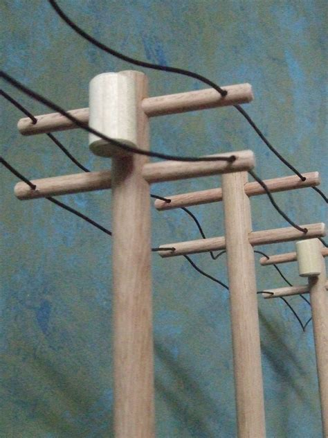 wooden toy high voltage power  pole  piece set
