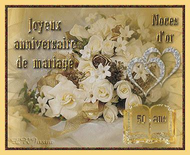 carte anniversaire de mariage 50 ans quot joyeux anniversaire de mariage noces d or 50 ans quot