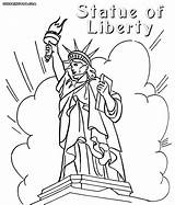 Liberty Statue Coloring Pages Printable Cartoon Drawing Myers Michael Ellis Island Usa Tropical Getdrawings Inspirations Slavyanka sketch template