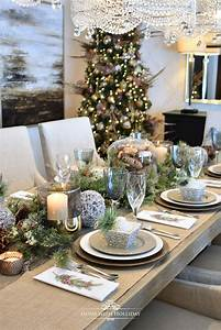 Simple, Woodland, And, Pine, Cone, Christmas, Table, Setting