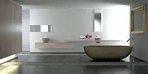 beautiful idee salle de bain ton gris contemporary With deco salle de bain gris et blanc