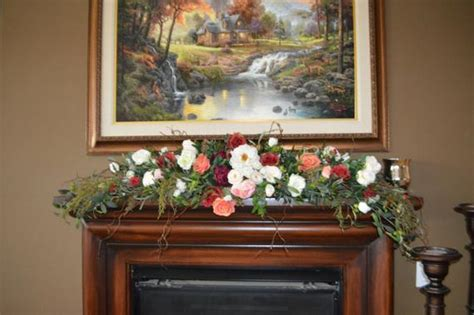 mantle swags mantle swag floral swag fireplace swag wall swag floral