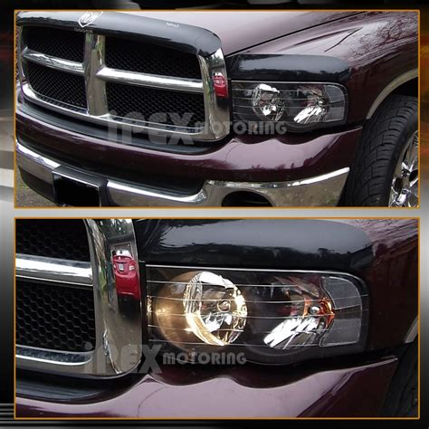 2005 dodge ram lights 2002 2005 dodge ram 1500 2500 3500 black headlights w