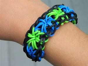 Rainbow Loom Starburst Rubber Band Bracelet By