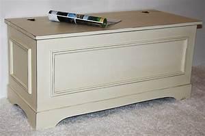 Wäschetruhe Holz Weiß : truhe w schetruhe sitztruhe bauerntruhe bett kiste holz massiv creme wei antik ebay ~ Indierocktalk.com Haus und Dekorationen