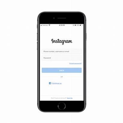 Login App Mobile Screen Instagram Practices Designing