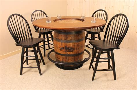 barrel table and chairs whiskey barrel pub table and chairs pictures to pin on