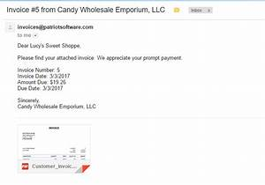 sending invoice by email letter With invoice email sample
