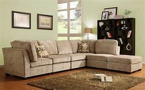Homelegance burke sectional sofa set a brown beige for Beige chenille sectional sofa