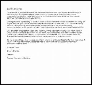 Letter Of Recommendation For Students Applying To College English Recommendation Letter Letter Of Recommendation