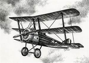 Sopwith Triplane 1917 Drawing by James Williamson