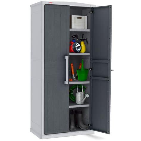 armoire haute de rangement optima 80 5x47 3x177 8cm grise