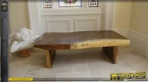 Table Basse Bois Brut : table basse rectangulaire bois massif ~ Melissatoandfro.com Idées de Décoration