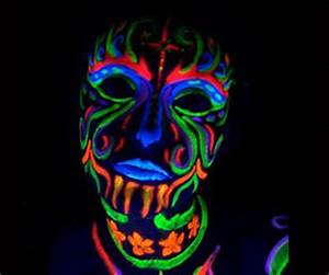 Black Light Reactive Neon Make Up