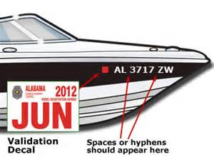 Boat Registration Numbers Decals