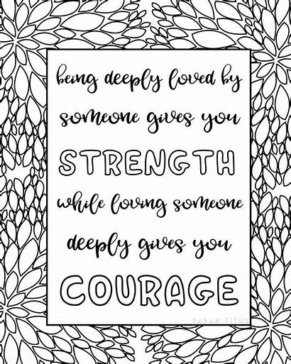 Coloring Quotes Pages Printable Sheets Quote Adults