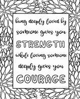 Coloring Quotes Printable Sheets Quote Titus Zen Adult Adults Sarahtitus Printables Sarah Inspirational Courage Loving Valentines Rocks Credit Larger Getdrawings sketch template