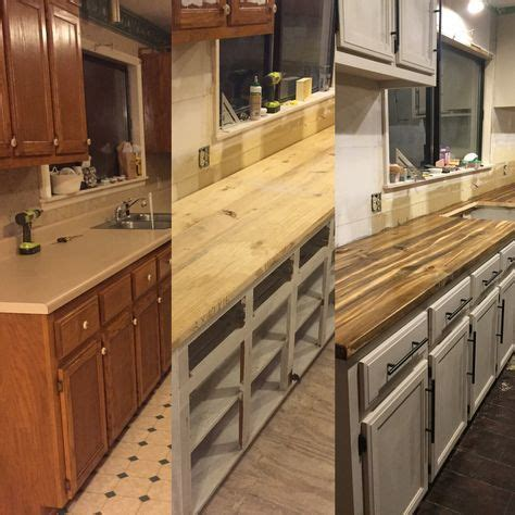 lowes countertop concrete before after countertops diy cheap this is 2 x 4 wood