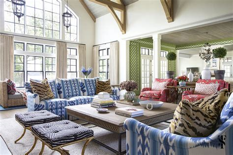 colorful lake house summer thornton design