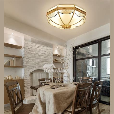 flush mount ceiling light fixtures brass glass  light