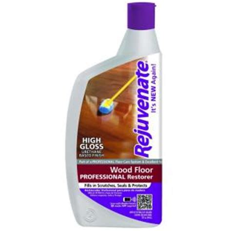 Rejuvenate Floor Cleaner Home Depot by Rejuvenate 32 Oz Professional High Gloss Wood Floor