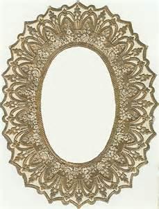 Printable Vintage Oval Frame