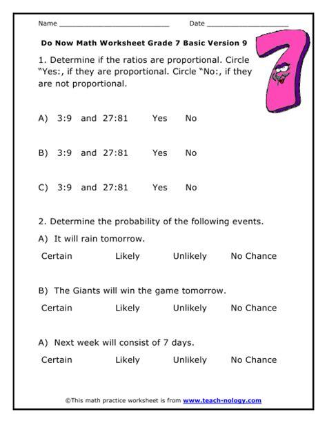 division worksheets grade 7 do now math grade 7 basic version 9