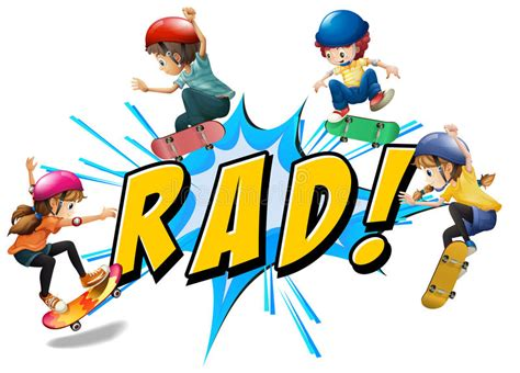 Rad Kids Stock Vector. Image Of Clipart, Healthy, Text