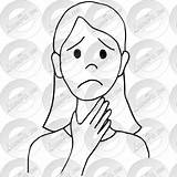 Throat Sore Drawing Outline Clipart Drawings Getdrawings Therapy Classroom sketch template