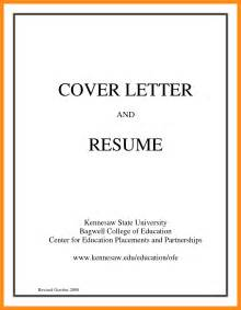 Resume Cover Page Examples