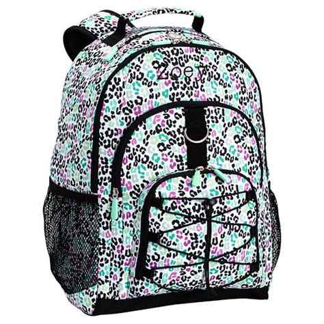 pottery barn teen backpacks gear up black multi cheetah backpack pbteen