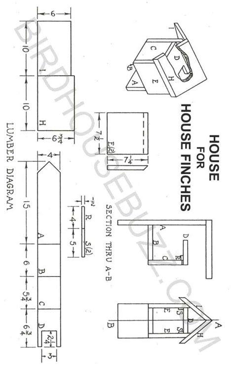 house finch bird house plans