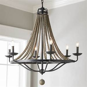 French, Country, Driftwood, Chandelier, -, 6, Light